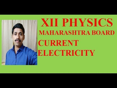 Maharashtra Board Physics Current Electricity standard 12  Lecture 1 Kirchhoffs  current law