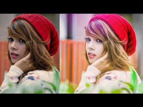 Photoshop photo editing | Oil Painting effect | skin clearing
