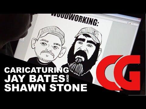 Caricaturing Jay Bates & Shawn Stone