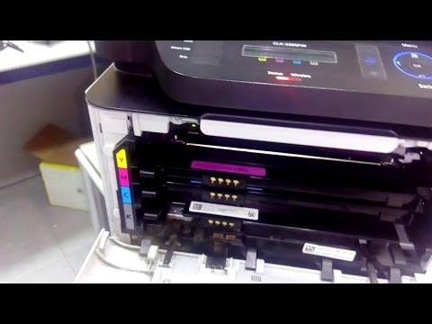 How to reset samsung CLX-3305 Printer imaging unit