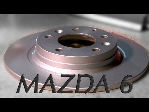 ✰ MAZDA 6  ✰ How to Rear Brake replacement. Rotor and Pads change
