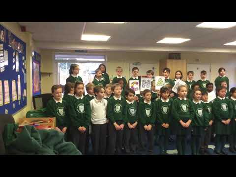 St Agnes school performing 'Be the change' for Sing Up Day 2018