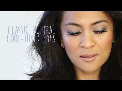 A Classic Neutral Makeup Tutorial With Cool-Toned Eyes and Nude Lips