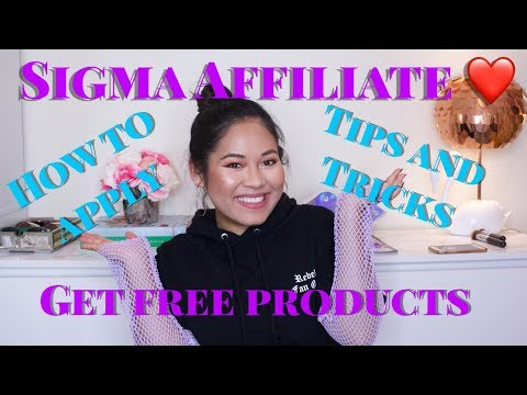 Sigma Affiliate| Free Products, Tips and Tricks, and How to Apply