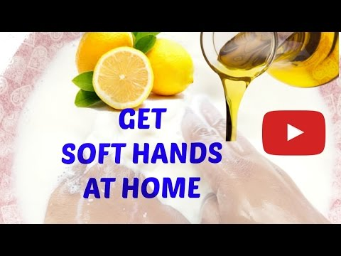 GET SOFT SMOOTH YOUNGER LOOKING HANDS NATURALLY - AT HOME DIY HOW TO