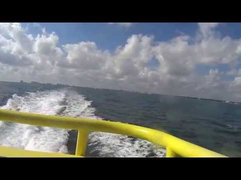 Riding the ferry from Puerto Juarez to Isla Mujeres