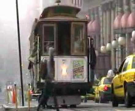 Streetcar in Union Square San Francisco