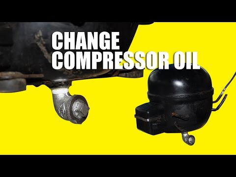Diy Silent Air Compressor Changing Oil