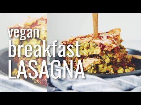 VEGAN BREAKFAST LASAGNA (THE VEGAN BRINNER COLLAB!) | hot for food