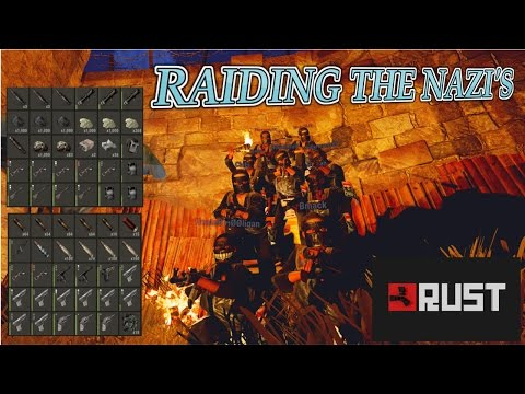 Helping Raid the Nazi's Base- Rust Group Survival