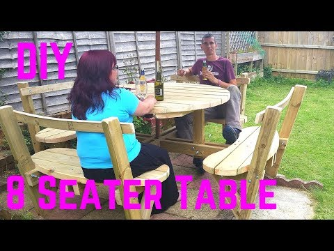 How to make a DIY Round 8 seater Garden Bench | Brainfizz