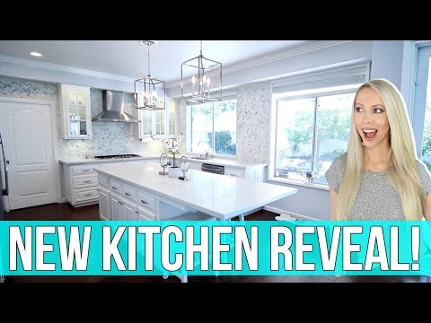 NEW KITCHEN REVEAL! All White Marble Kitchen Remodel