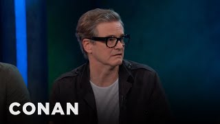 Colin Firth Tried On Elton John's Clothes  - CONAN on TBS