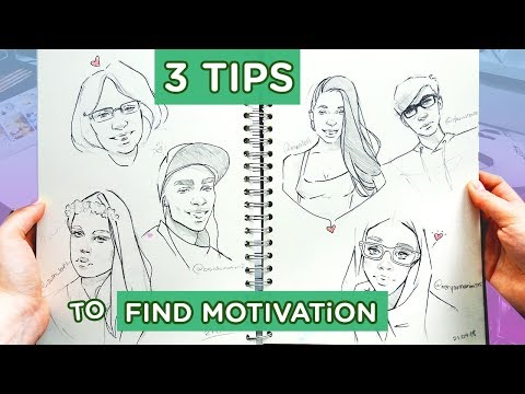 3 Ways to Fill Your Sketchbook【Tips for Motivation!】