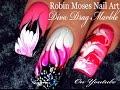 No Water Needed - Pink Diva DIY Drag Marble nail art Tutorial