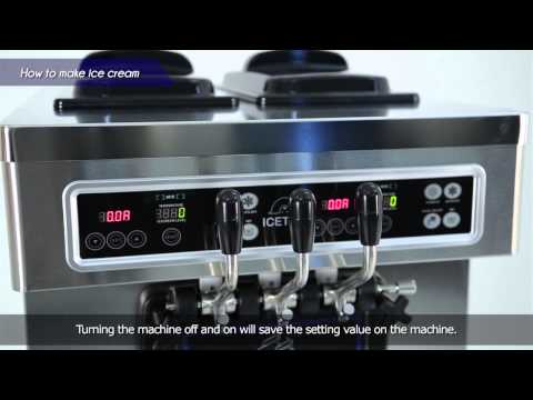 ICETRO Ice Cream machine Manual movie for SSI-203SN by English Version.