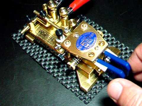 W5PEH WB9LPU  TINY BUG Semi Automatic Telegraph Key