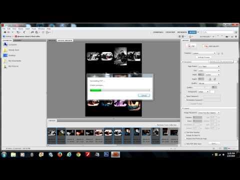 Creating a Contact Sheet in Adobe Bridge (as a PDF)