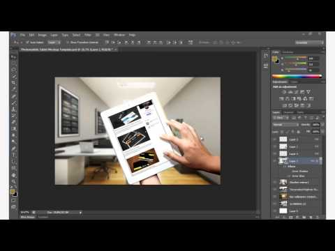 Photorealistic Tablet Mockup Template Free Download