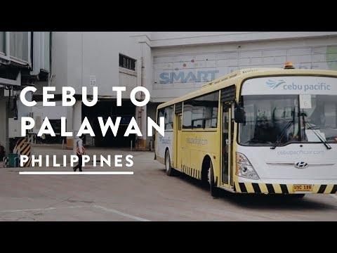 CEBU TO PUERTO PRINCESA | Philippines Travel Vlog 021, 2017