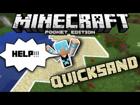 How To Make a Quicksand Trap In MCPE 1.2(Command Block Trick/Tutorial) |Minecraft Pocket Edition 1.2