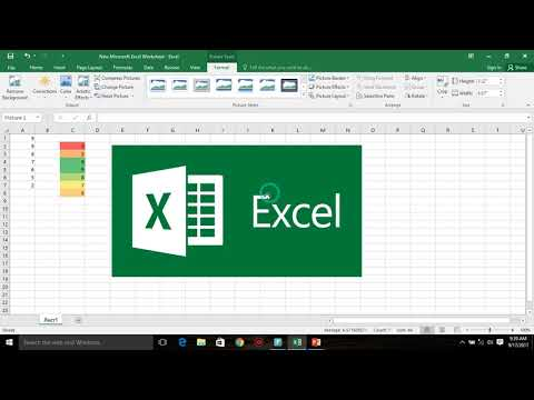 Inserting a Chart, Image or Equation and conditional formating in Excel