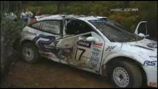 2001 Rally Australia-Francois Delecour Huge Accident