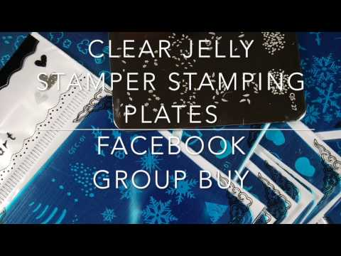Haul - Clear Jelly Stamper Stamping Plates (Facebook Group Buy and Close Ups)✓