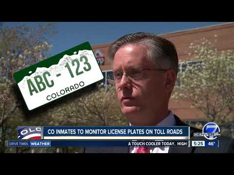Colorado prison inmates to monitor license plates on state's toll roads