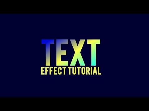 Gradient Text Effect | Sony Vegas Tutorial #3