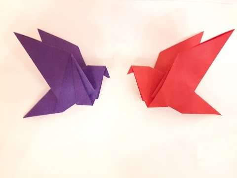 How to make a Paper Flapping bird? (easy)