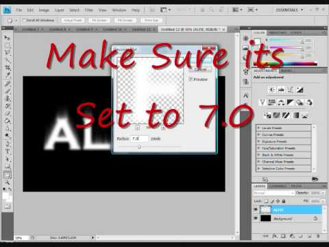 How To make a FIRE TEXT (Adobe Photoshop cs4)