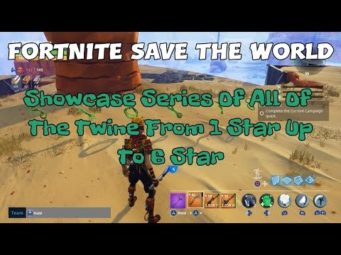 17a) Fortnite Save The World Showcase Series Of All Of The Twine From 1 Star Up To 6 Star.