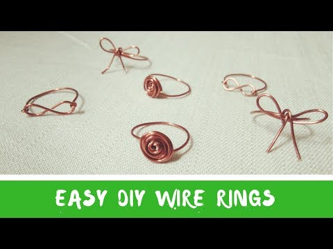 Handmade jewelry  🖤 DIY wire rings  🖤 How to make easy DIY ring with wire by Chic Handi Home