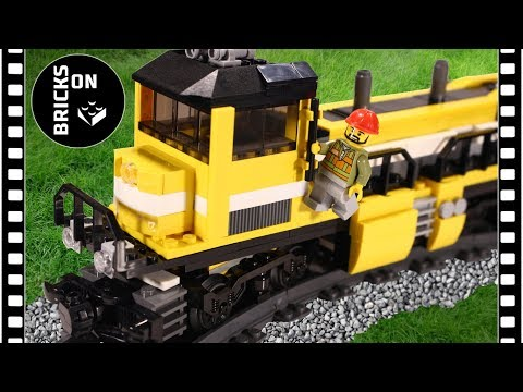Lego Train 2018 MOC Set 2017 Yellow Train switcher / locomotive / shunter