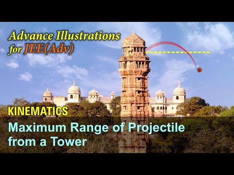 23. Physics | Kinematics | Maximum Range of Projectile From a Tower | by Ashish Arora