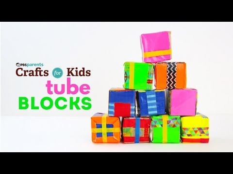 Tube Blocks | PBS Parents | Crafts for Kids