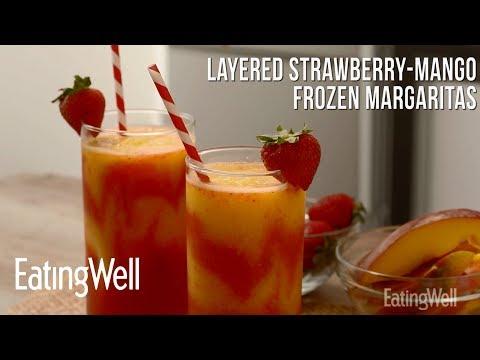 Layered Strawberry-Mango Frozen Margaritas | EatingWell