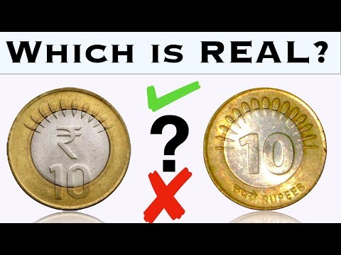 How to Know which 10 Rupee Coin is Real and which is Fake?