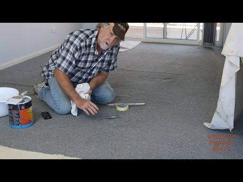 How to remove paint drips from carpet easily, fast and it's foolproof!