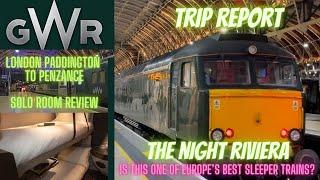 Night Riviera - GWR trip report solo room review London Paddington to Penzance