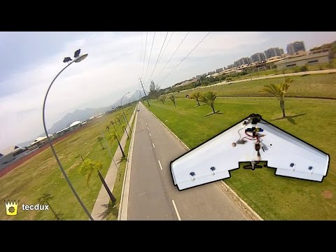 1200mm Flying Wing FPV Proximity Flight - Zagi 1,20m Vôo FPV com Obstáculos