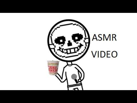 ASMR Cup of Noodles: Mr.Sans