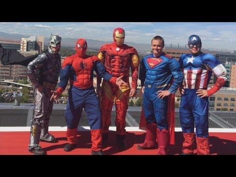 SWAT Team 'Superheroes' Scale Hospital Building to Make Sick Children Smile