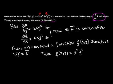 Calc III: Fundamental Theorem of line integral example 1/4