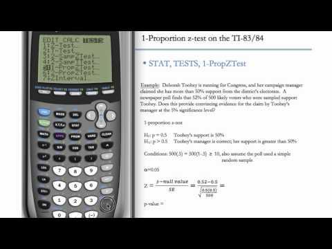 1-Proportion Z-Test (Hypothesis Testing) (TI-83 & TI-84)