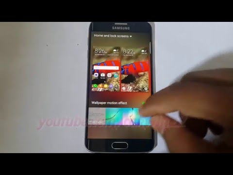 Android Lollipop : How to change Home and lock screens wallpaper on Samsung Galaxy S6