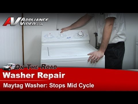 Maytag Washer Diagnostic & Repair - Stops mid Cycle - Not agitating or spinning LAT9240AAE
