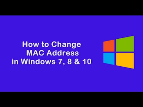 How to change mac address in windows