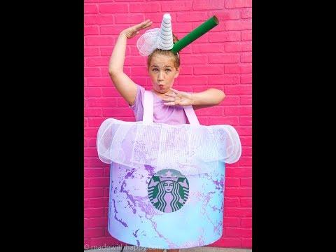 Starbucks Unicorn Drink Costume DIY